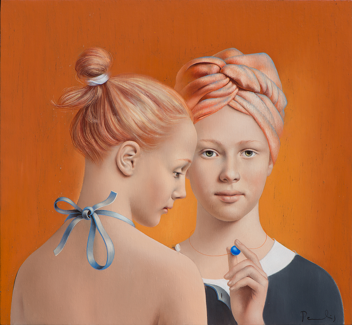 "Paulis Postazs - ""Friends"" - oil on canvas - 60 x 65 cm - d'Haudrecy Art Gallery"